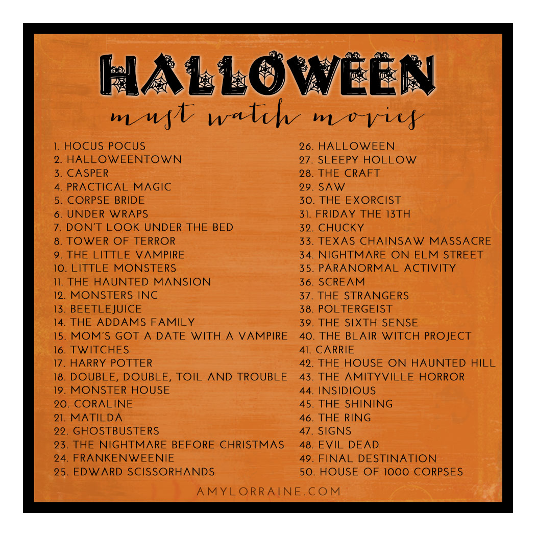 Must Watch Halloween Movies List | Southern Maryland Lifestyle ...