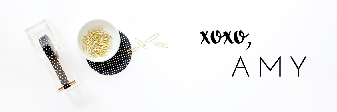 xoxo, Amy | blog signature | www.amylorraine.com