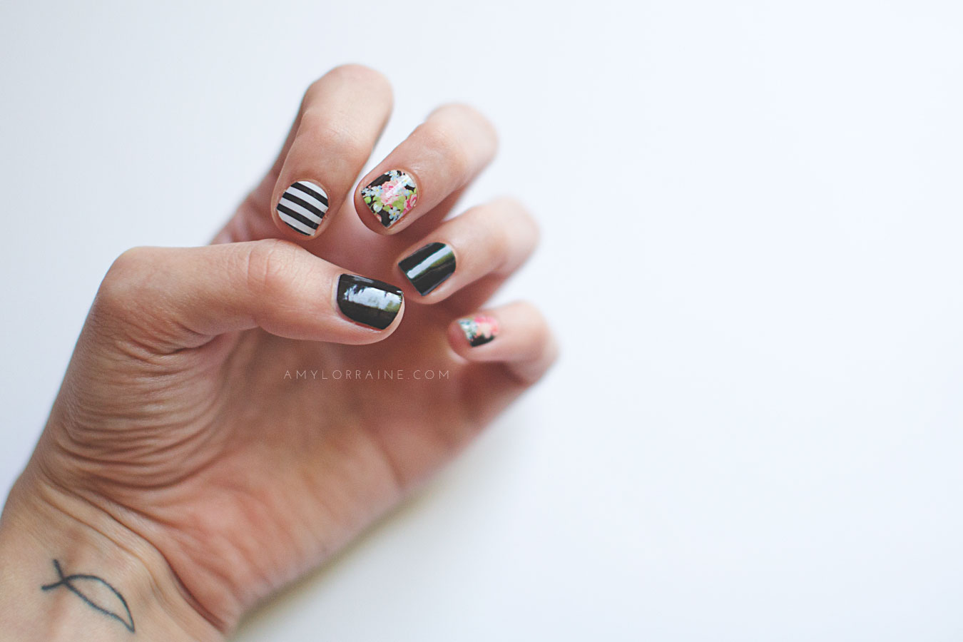 Nailed It Black Black And White Stripe And Sweet Nothing