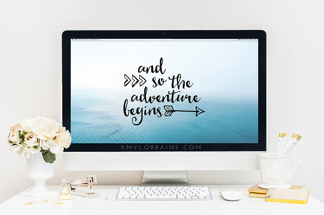 Free Wallpaper Download | And so the adventure begins | www.amylorraine.com