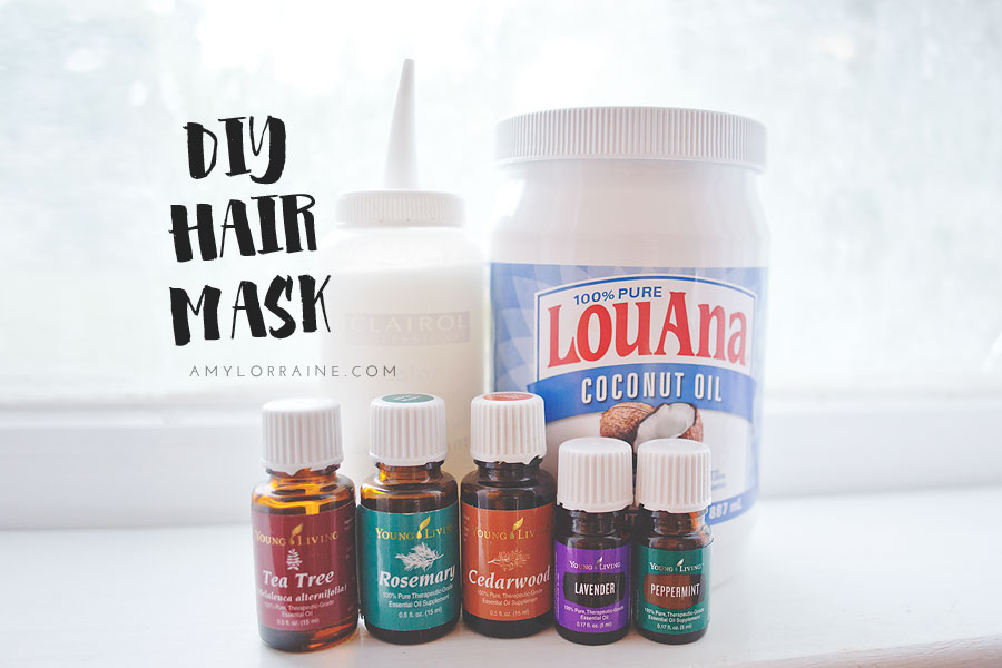 DIY Coconut Oil and Essential Oil Hair Mask | www.amylorraine.com