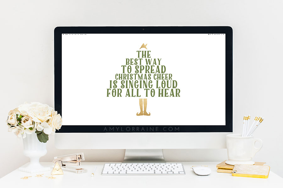 Free Wallpaper Downloads | The Best Way To Spread Christmas Cheer Is Singing Loud For All To Hear | www.amylorraine.com