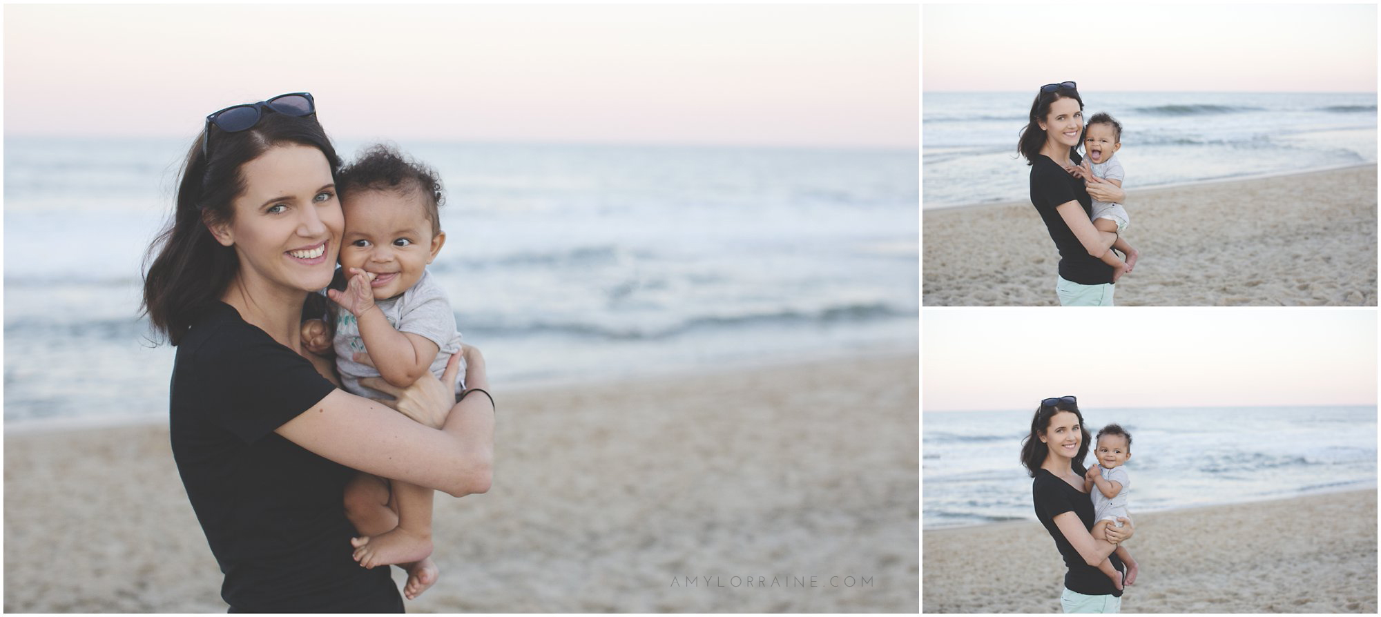 Quentin Meets The Ocean | Beach Photos + Vlog | www.amylorraine.com